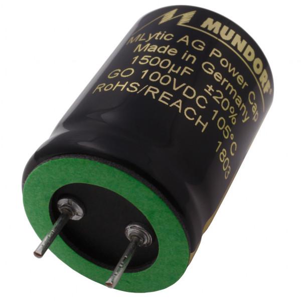 Mundorf Kondensator Elko 1500uF 100V 125°C MLytic ® AG Audio Grade 853516