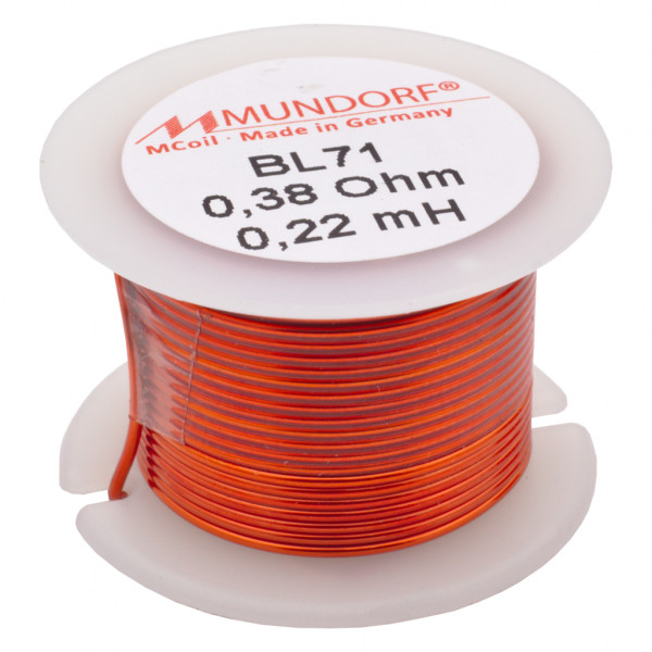 Mundorf BL71 0,22mH Luftspule Air-core coil Kupferdraht 0,71mm Backlack 851718
