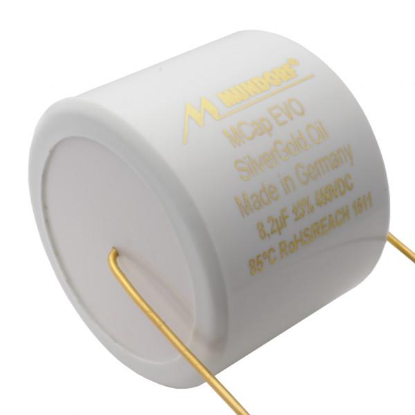 Mundorf MCap MESGO EVO SilberGold.Öl Oil 8,2uF Kondensator capacitor 854267