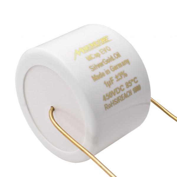 Mundorf MCap MESGO EVO SilberGold.Öl Oil 1,0uF Kondensator capacitor 860502