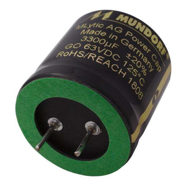 Mundorf Kondensator Elko 3300uF 63V 125°C MLytic ® AG Audio Grade 853431