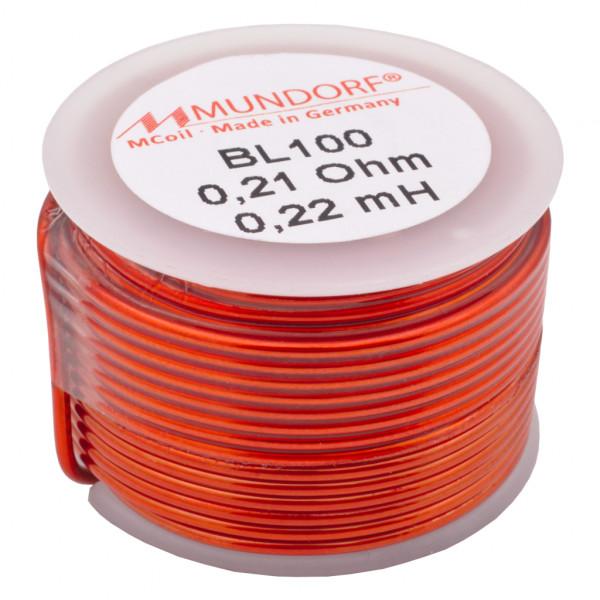 Mundorf BL100 0,22mH Luftspule Air-core coil Kupferdraht 1,00mm Backlack 851758