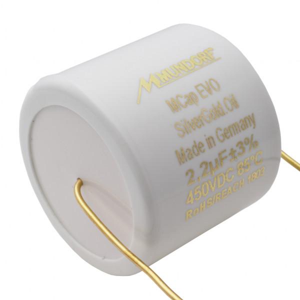 Mundorf MCap MESGO EVO SilberGold.Öl Oil 2,2uF Kondensator capacitor 853802