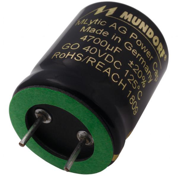 Mundorf Kondensator Elko 4700uF 40V 125°C MLytic ® AG Audio Grade 853076