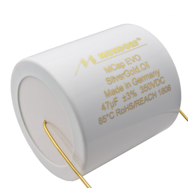Mundorf MCap MESGO EVO SilberGold.Öl Oil 47uF Kondensator capacitor 860534