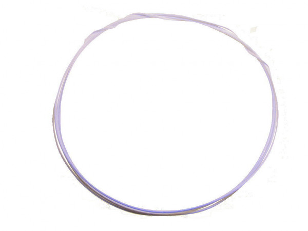 1m MUNDORF SGW105WH Silber/Gold Draht 0,5mm PTFE weiss 852870