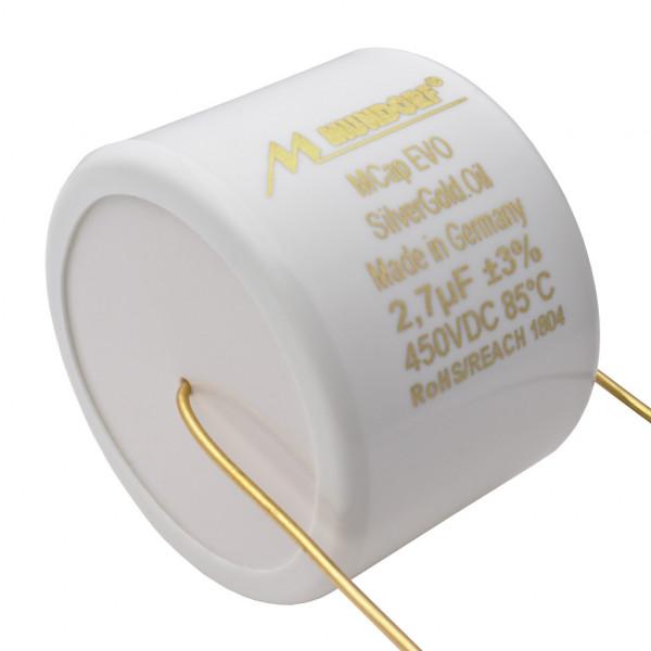 Mundorf MCap MESGO EVO SilberGold.Öl Oil 2,7uF Kondensator capacitor 860531