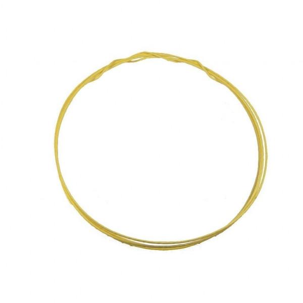 1m MUNDORF SGW105YE Silber/Gold Draht 0,5mm PTFE gelb 852871