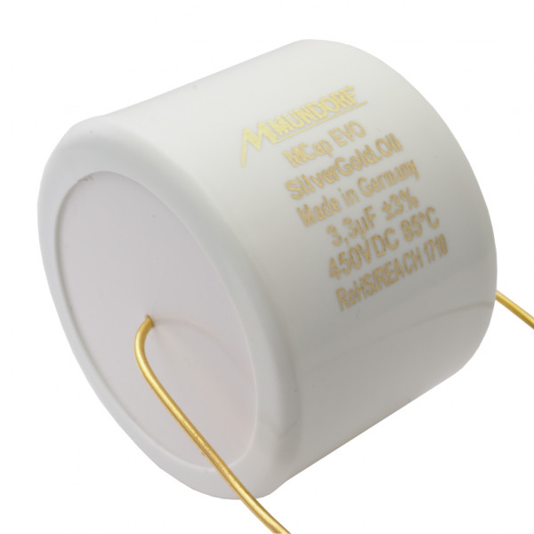 Mundorf MCap MESGO EVO SilberGold.Öl Oil 3,3uF Kondensator capacitor 853803