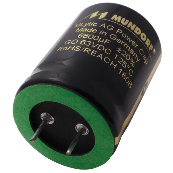 Mundorf Kondensator Elko 6800uF 63V 125°C MLytic ® AG Audio Grade 853365